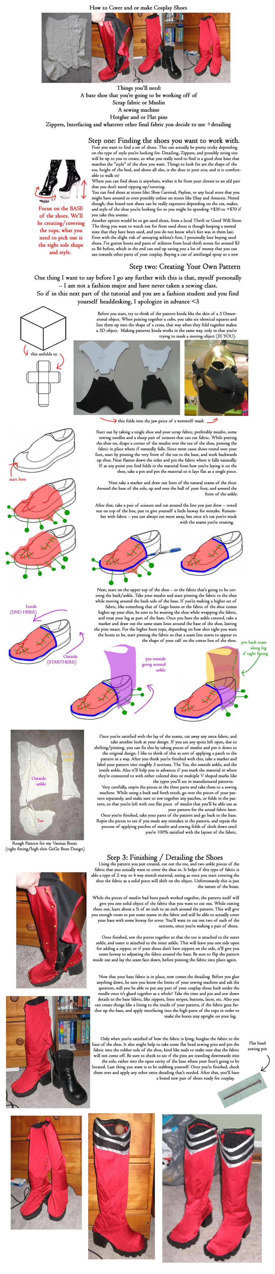 How To Cover Cosplay Shoes by NSCosplay