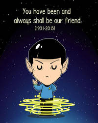 Farewell, Mr. Spock by Shanachie-fey