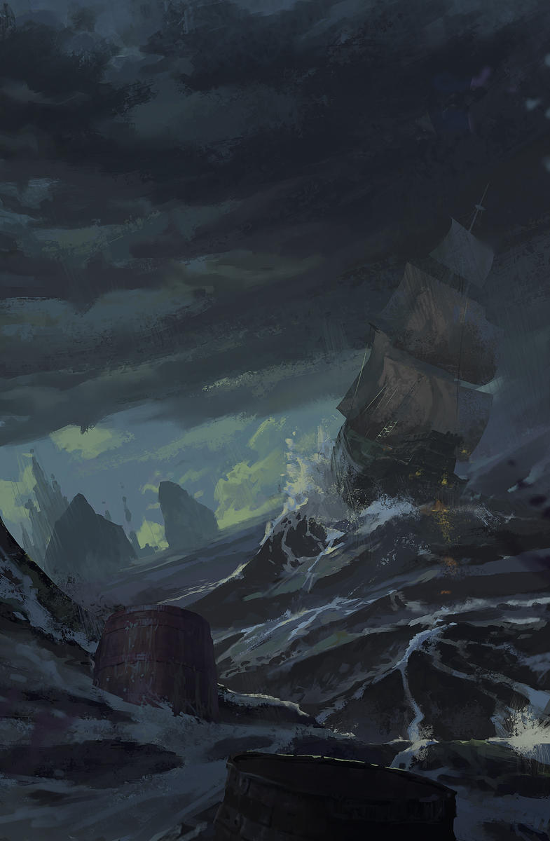 storm and sea by 0BO