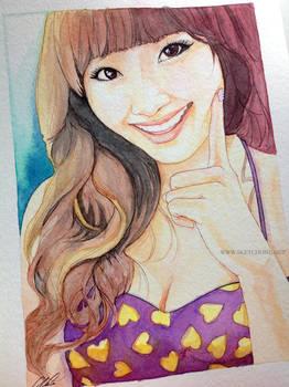 Hyorin -- Sistar fan art painting by antuyetlai