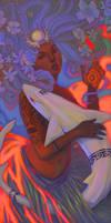 Tiki Tarot: The High Priestess by UlaFish