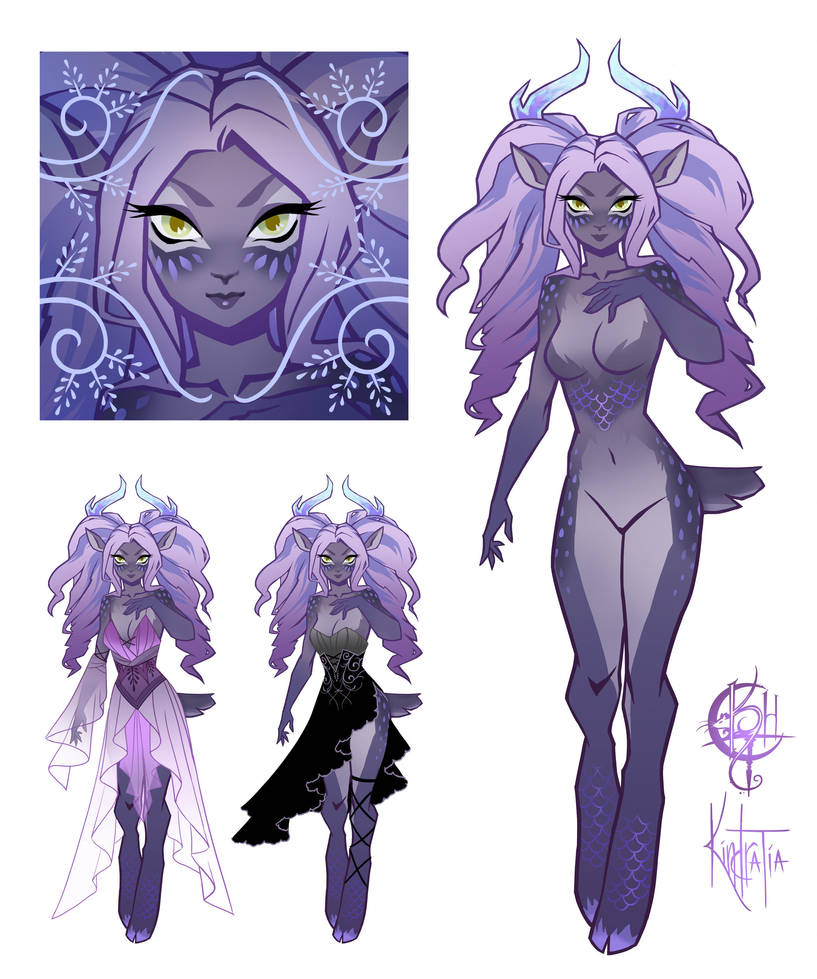 Lavender and Opals Faun Adopt [OPEN] by UlaFish