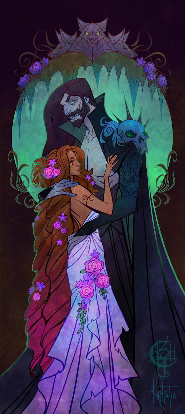 Persephone and Hades by UlaFish