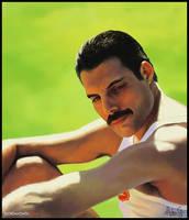Freddie Mercury Portrait by jordygraph