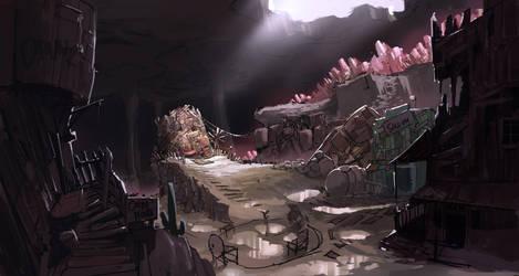 Underground Drunken Town by Purpleground02