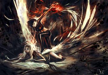 Devil v. Angel by Junedays