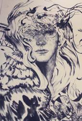 Sloe-eyed Girl by Junedays