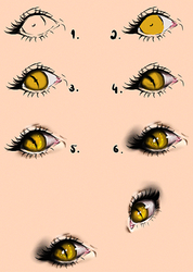 Cat Eyes - Tutorial by Kipichuu