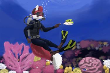 Foxtober Day 6: Scuba diving by SuperFrodo95