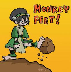 Toph has Monkey Feet by yaytime