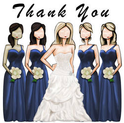 Bride's Maids Thank You Card by megamike75