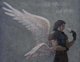 winged Angeal by Insant