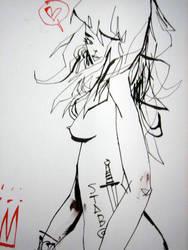 Stab Hair Girl by JimMahfood-FoodOne