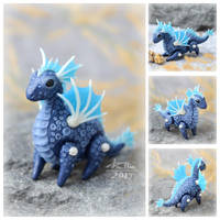 Mini Dragon - Blue (SOLD) by dallia-art
