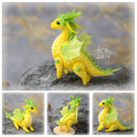 Mini Dragon - Yellow (SOLD) by dallia-art
