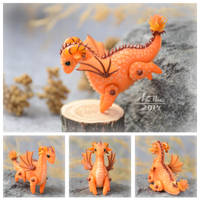 Mini Dragon - Orange (SOLD) by dallia-art