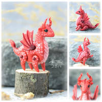 Mini Dragon - Red (SOLD) by dallia-art