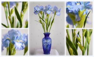 Clay irises by dallia-art