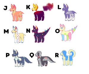 [CLOSED] Custom Dog Breedable Adopts by Sneaky-Bean