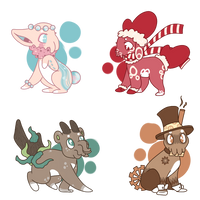 [CLOSED] Squibb Adopts - Neutrals by Sneaky-Bean