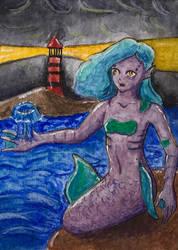 [Aceo] coast mermaid by Billie-phoebe