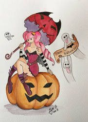 Happy Halloween 2018 with Perona by Billie-phoebe