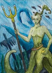 [Aceo] Mermaid by Billie-phoebe