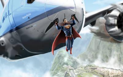 Superman Saves Jet to Peru by michealoduibhir