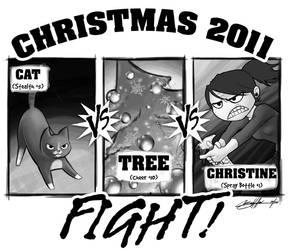 Cat vs. Tree vs. Me by weenie