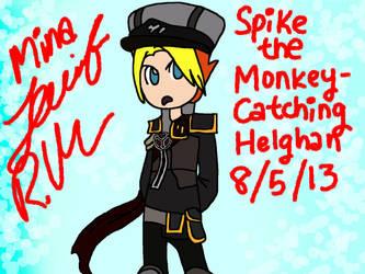 PSASBR Character Mix-Up - Spike as Radec by minajruby101