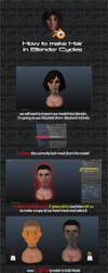 Tutorial Particle Hair in Blender Cycles by SniperGiirl