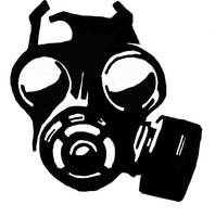 Gas Mask Stencil by peoplperson
