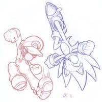 Mario vs Sonic - 02 by CKT-INC