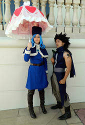 Gajeel and Juvia by alienrobot