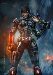 Alora Shepard - Mass Effect by Hidrico