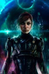 The Pathfinder - Sara Ryder by Hidrico