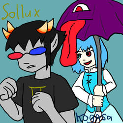 Sollux and Kogasa by Sonicchica