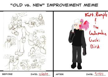 Old vs New Kurt Rample by Sonicchica