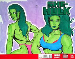 She Hulk..... double trouble!!! by seanpatrick76