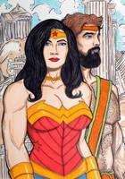 Wonder Woman and Hercules by seanpatrick76