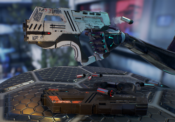 Paladin and Carnifex Heavy pistol by Daniel-Venice