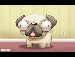Pug by hanzthebox