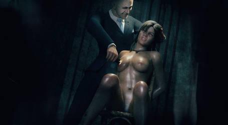 Lara Croft. Trinity Interrogation. by nudality