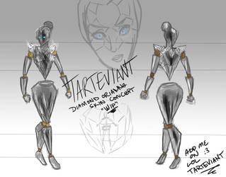 Diamond Orianna Skin Concept WIP by Tarteviant