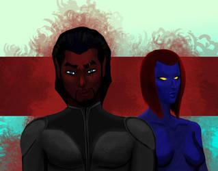 Azazel and Mystique by Tarteviant
