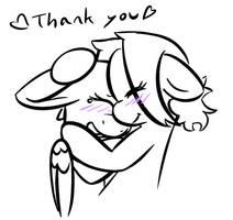 Anno X Gumdrop (thank you) by SilverBlazeBrony