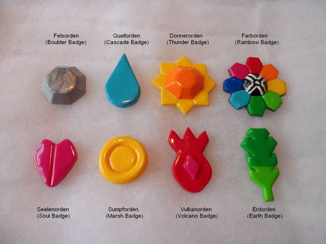 Kanto Gym Badges by AidaSechem