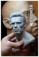 Arnold  Schwarzenegger 1:3 WIP by Pedro-Moretto