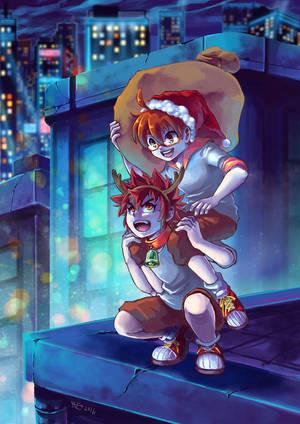Santa and Reindeer by MZ15
