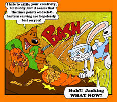 Sam and Max Carve Pumpkins by mightyfilm